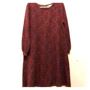 Burgundy and black print Loft dress size 18w